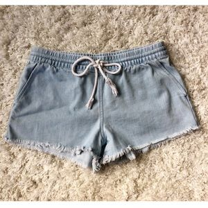 Aerie Drawstring Denim Cutoff Shorts